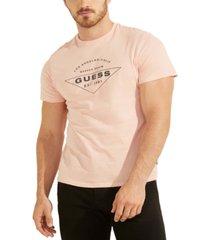guess men's organic cotton logo t-shirt