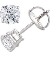 certified diamond stud earrings (1 ct. t.w.) in 14k white gold