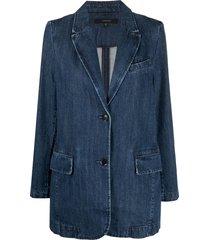 j brand haisley relaxed blazer - blue