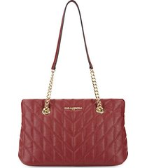 karolina quilted leather tote