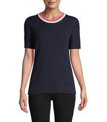 klarissa short-sleeve cashmere pullover