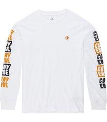 fold out t-shirt met lange mouwen