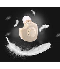 mini audífonos bluetooth inalámbrico manos libres con micrófono -beige