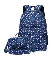 kit mochila de costas + lancheira spector baláo infantil escolar preto estampado.