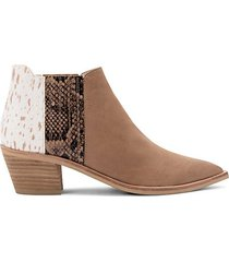 shana calf hair & leather western booties