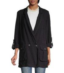 free people women's charly blazer - midnight - size s