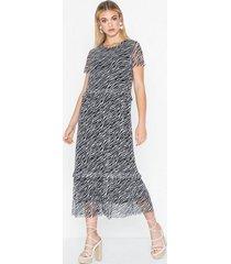 pieces pcessa ss midi mesh dress loose fit dresses