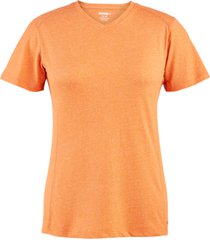 wolverine women's edge short sleeve tee melon heather, size xl