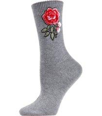 rose path women's crew socks