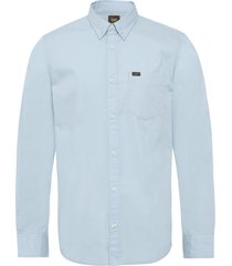 lee button down skjorta casual blå lee jeans