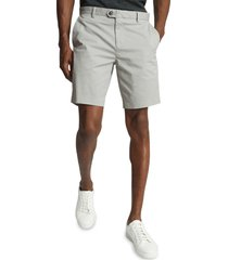 men's reiss wicket cotton blend chino shorts, size 36 - green