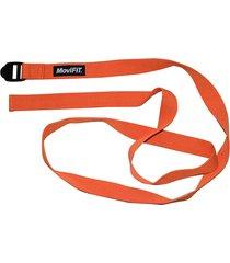 correa para estiramiento 240 cm naranja fitness movifit