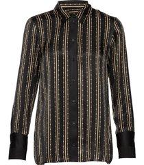 lara pearl shirt overhemd met lange mouwen zwart mos mosh
