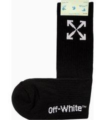 off-white arrow mid sport socks omra024r21kni001