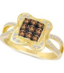 le vian chocolatier diamond cluster ring (1/2 ct. t.w.) in 14k gold
