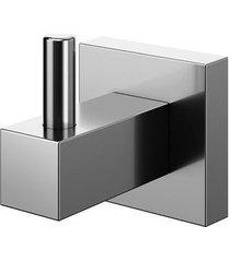 cabide square grafite polido - docol - docol