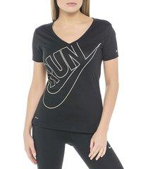 camiseta nike 669961-013 negro para mujer