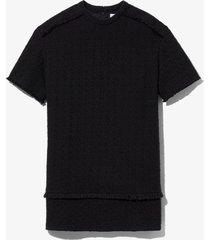 proenza schouler white label bouclé tweed dress black 8