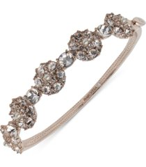 marchesa rose gold-tone imitation pearl & crystal cluster bangle bracelet