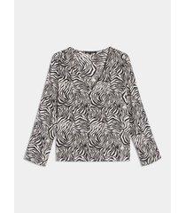 blusa con estampado animal print