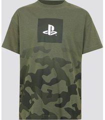 playstation t-shirt i bomull - grön