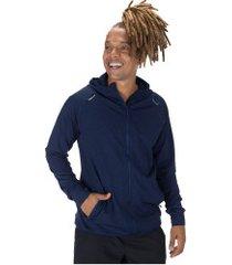 jaqueta com capuz oxer richmond evolution - masculina - azul esc mescla