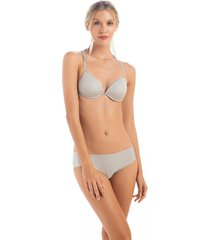 bra copa lisa broche frontal en lycra147600132b gris  options intimate