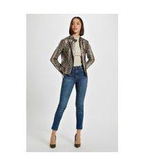 calça basic skinny high azul dirty jeans - 44