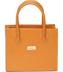 bolsa de mão e alça transversal modalli laranja