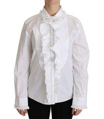 ruffle turkse katoenen blouse