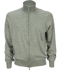 brunello cucinelli cotton and cashmere lightweight turtleneck cardigan