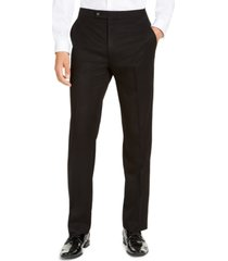 alfani men's classic-fit stretch black tuxedo pants, created for macy's