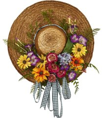nearly natural mixed flower hat wreath