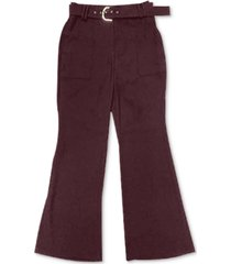 inc belted wide-leg pants, created for macy's