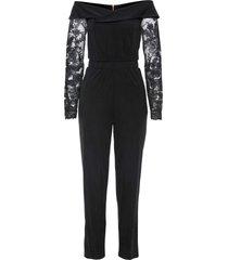 tuta elegante con spalle scoperte (nero) - bodyflirt boutique