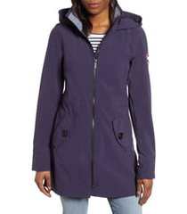 women's canada goose avery water resistant hooded softshell jacket, size large (12-14) - blue