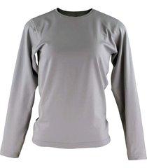 blusa tã©rmica feminina segunda pele thermo premium original slim fit - cinza - cinza - feminino - poliã©ster - dafiti
