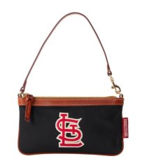 dooney & bourke st. louis cardinals camden sport large slim wristlet