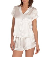 women's in bloom by jonquil the mrs satin short pajamas, size xx-large - ivory