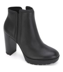kenneth cole new york women's justin lug chelsea bootie women's shoes