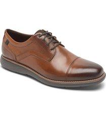zapatos rockport oxford garett cap toe-chocolate-cafe