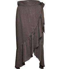 2nd mora thinktwice skirts wrap skirts brun 2ndday