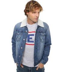 campera azul wrangler jean retro