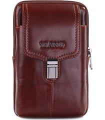 vera pelle business multi-functional phone borsa crossbody borsa per uomini