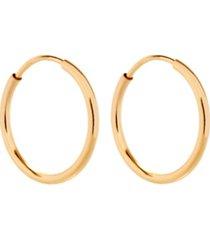 eve's jewelry men's 14k gold tone filled half inch hoop earrings