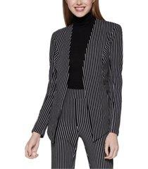 bcbgeneration velvet striped asymmetrical blazer
