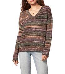 women's bb dakota by steve madden mellow it's me space dye sweater, size medium - brown