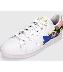 tenis lifestyle blanco-multicolor adidas originals stan smith