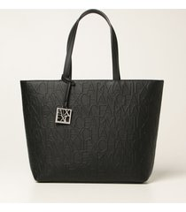 armani collezioni armani exchange tote bags armani exchange crossbody bag in synthetic leather with logo