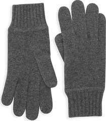 portolano men's cashmere tech gloves - heather grey - size l